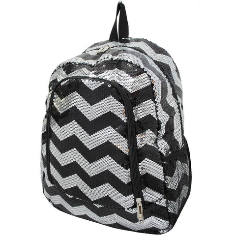 Black Sequins Chevron NGIL Canvas School Backpack
