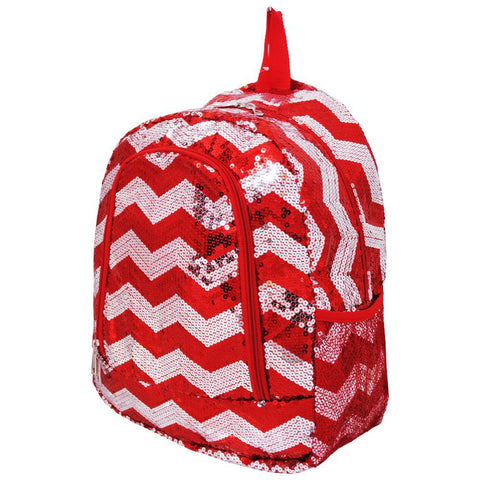 Red Sequins Chevron NGIL Canvas School Backpack
