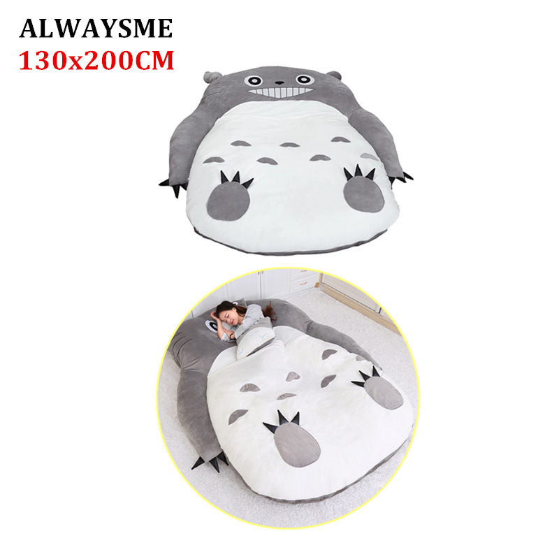 Alwaysme 130x200cm Totoro One Piece Design Lazy Sofa Bed Cover