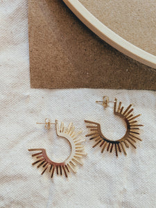 Sunburst Hoop In Gold