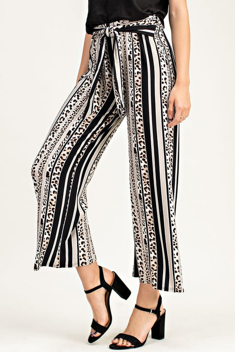 Meena Striped Leopard Pant