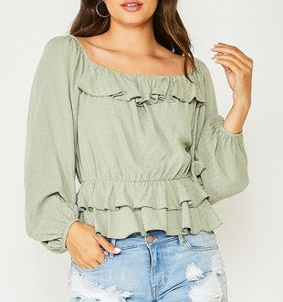 A Higher Love Top in Sage
