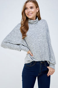 Blair Turtleneck Sweater in Grey