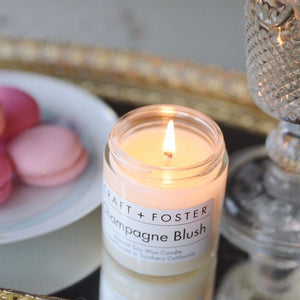 Champagne Blush 8oz Soy Candle || Craft + Foster