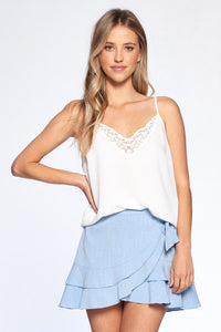 Cindy Lace Cami in White