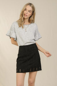 Dane Mini Skirt in Black