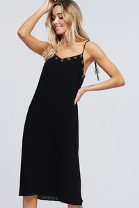 Ella Slip Dress in Black