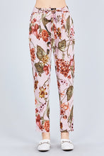 Camille Floral Pants in Mauve