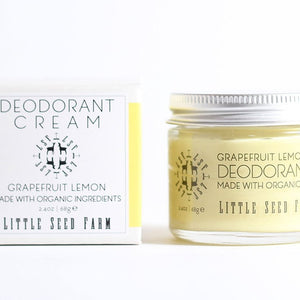 Grapefruit Lemon Deodorant Cream || Little Seed Farm