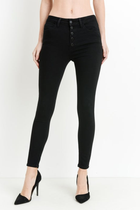 Just Black Skinny Jeans in Black