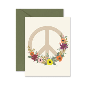 Greeting Card || Peace Flower