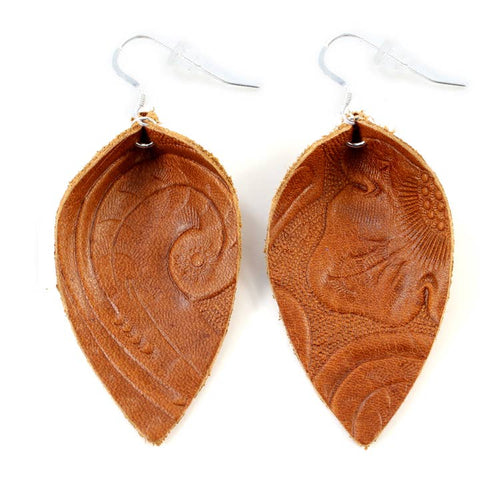 Blossom Earring- medium || Brown || One Wild