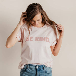 Be Kind Tee || Faded Pink