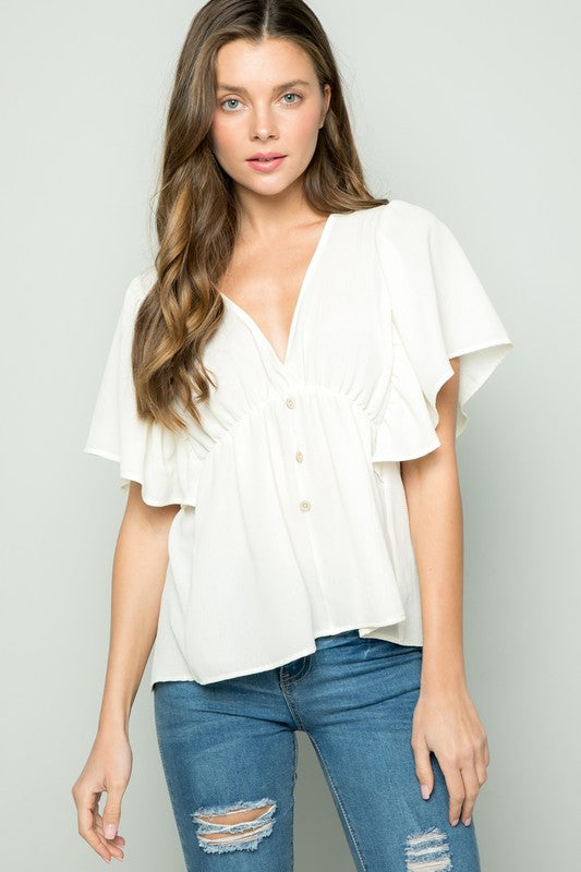 Clover Top in Off White