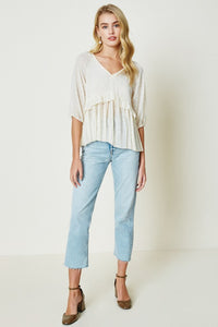 Cohen Peplum Top in Cream