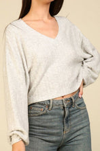 Grey Cropped Sweater