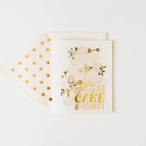 Greeting Card || Let's Eat Cake || The First Snow