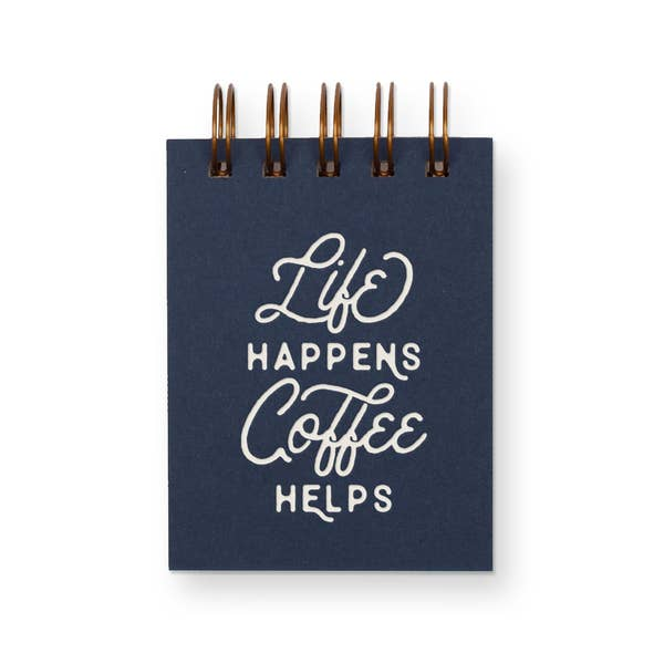 Life/Coffee Mini Jotter Notebook