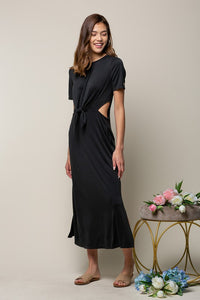 Natalia Cut Out Dress in Black