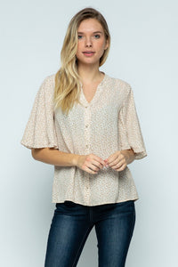 Darma Top in Ivory Floral