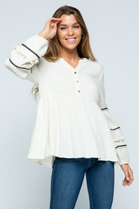 Marcie Top in Ivory