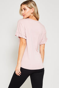 Relly Top in Mauve