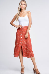 Cressida Midi Skirt in Rust