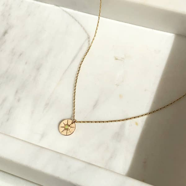 Starburst Coin Necklace || 14k Gold Fill || Token Jewelry