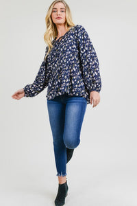 Time After Time Blouse in Midnight Blue