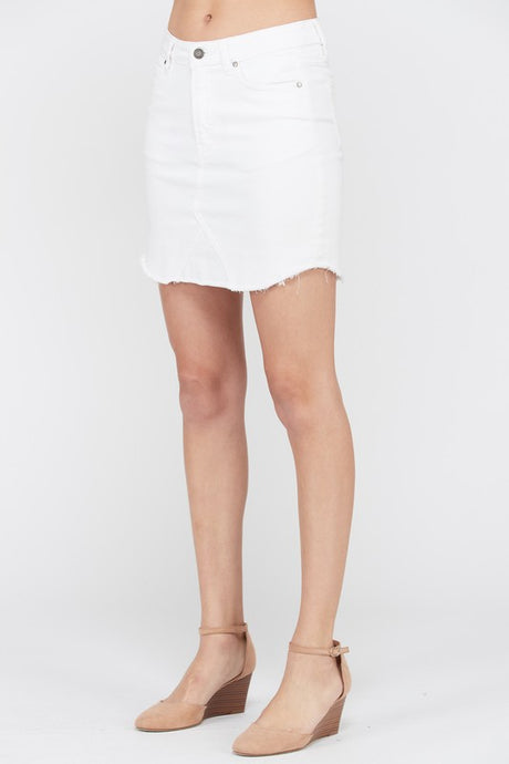 The Vail Mini Skirt in White