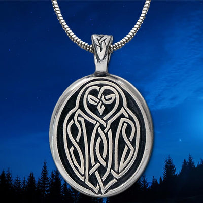 Celtic Knot Works Jewelry Celtic Owl Pendant (Wholesale)