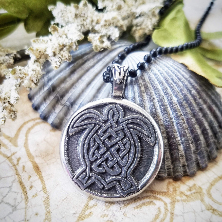 Celtic Knot Works Jewelry Celtic Turtle Pendant (Wholesale)