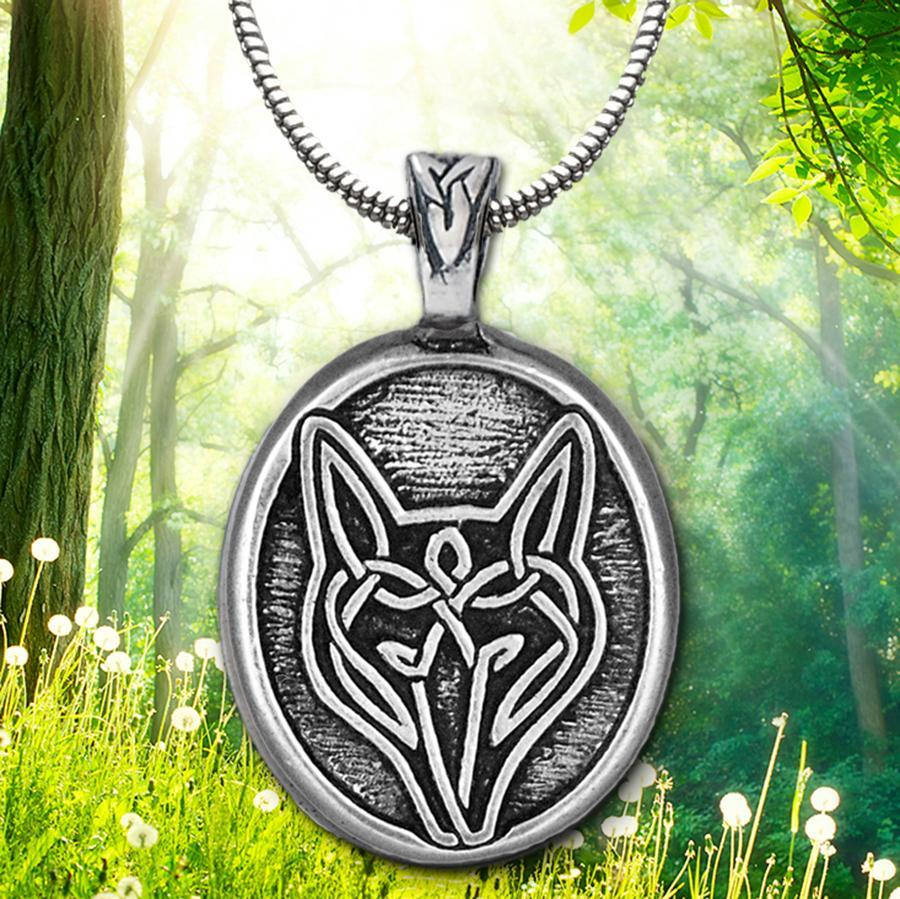 Celtic Knot Works Jewelry Celtic Wolf Pendant (Wholesale)