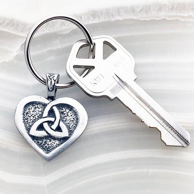 Celtic Knot Works Key Chain Celtic Heart and Triquetra Keychain (Wholesale)