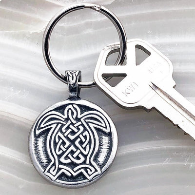 Celtic Knot Works Key Chain Celtic Turtle Keychain (Wholesale)