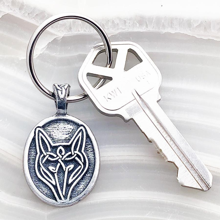 Celtic Knot Works Key Chain Celtic Wolf Keychain (Wholesale)