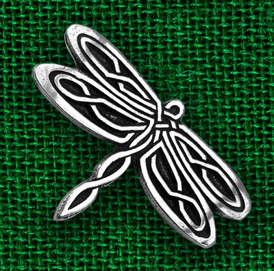 Celtic Dragonfly Pewter Pin (Wholesale)