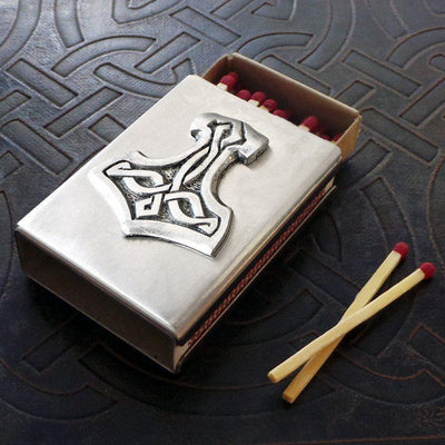 Thor's Hammer Match Box in Stainless Steel (Wholesale)