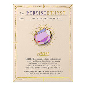 Persistethyst Card and Healing Crystal Enamel Pin