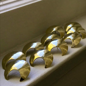 Hammered Crescent Studs