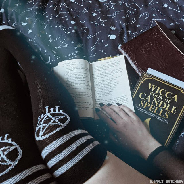 Accessories, Shop Now. Alternative, Punk, Goth Accessories. Pentagram Socks. Pentacles. Witchy, Wiccan Clothing & Accessories. Thigh high socks. Sporty Tube Socks. Witchcraft. Witchy Fashion & Accessories