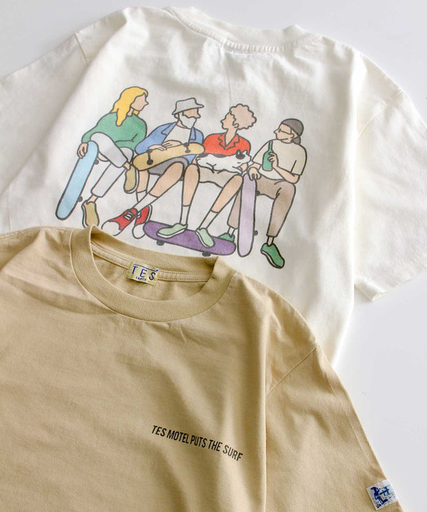 《5月中旬お届け予定》TES MOTEL PUTS THE SURF-BOYS T-SHIRT / Tシャツ