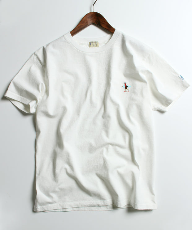 TES CALIFORNIA CREW EMB T-SHIRT