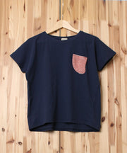 LADIES-BORDER PILE POCKET TEE