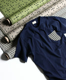 TES ALEXANDER GIRARD DOUBLE TRIANGLES POCKET TEE
