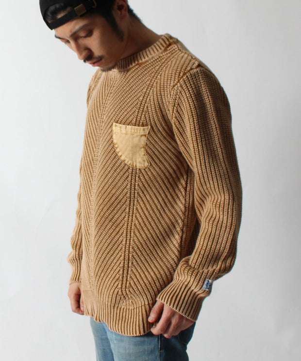 TES PIGMENT WAVE KNIT