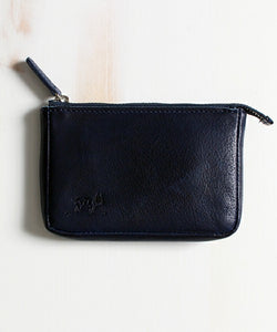 TES INDIGO LEATHER MINI WALLET / KEY CASE