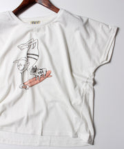 LADIES SURF HOLIC CREW T by SharesDesign