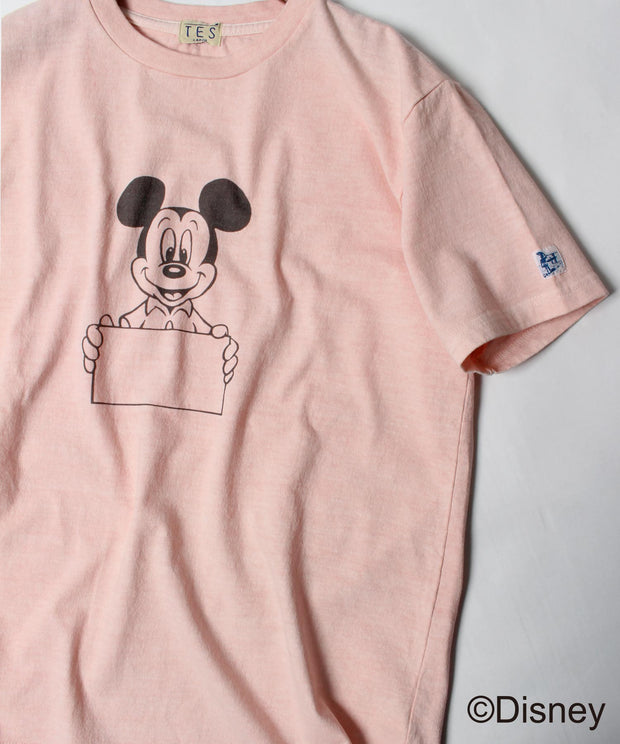 DISNEY for TES SPECIAL EDITION PIGMENT SIGN T-SHIRT / Tシャツ