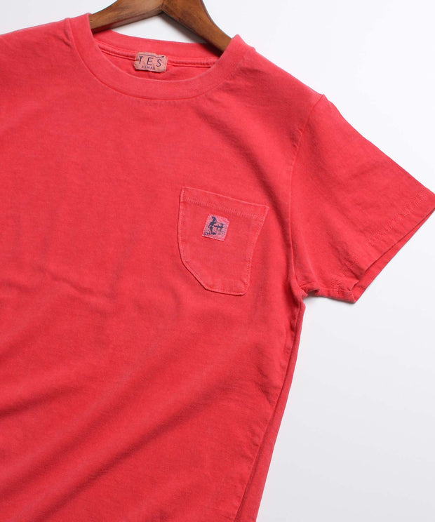 LADIES TES CALIFORNIA PIGMENT FIN POCKET T